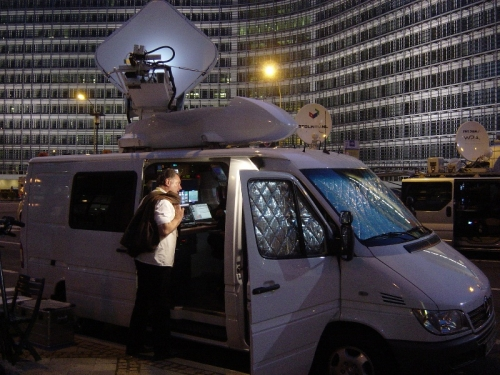 RTL SNG crew at the EU summit in Brussels