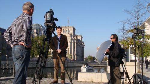 Liveshot from TVN Poland.