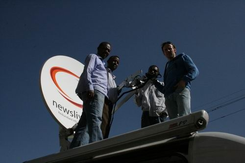Ad Testers explains the LNB and feed in sunny Addis Abeba.