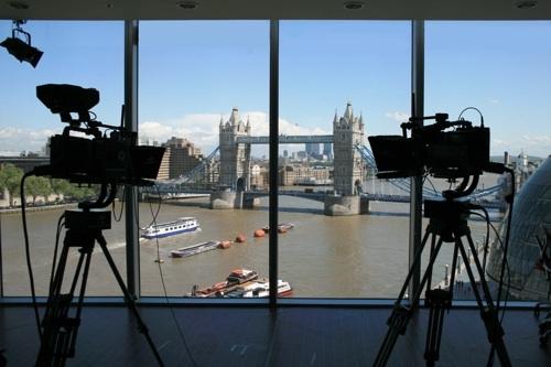 Flint's studio set in London