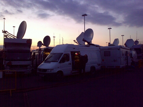Thin Air Broadcasting in a very busy OB compound