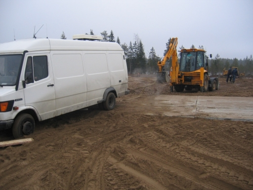 SNG stuck in the sand