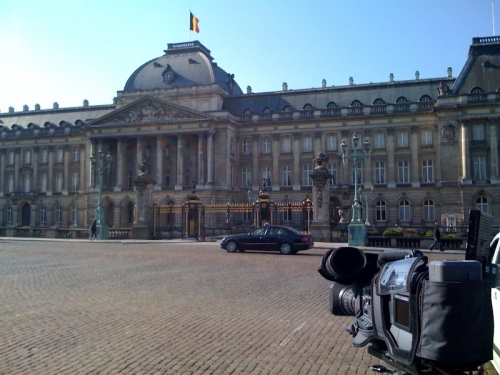 Stand Up Position in front of the Royal Palace
