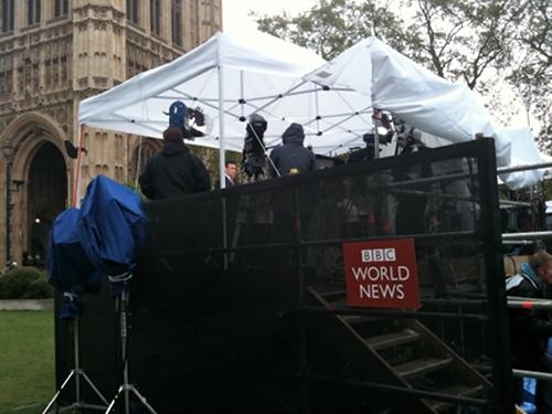 BBC World OB on Abingdon Green
