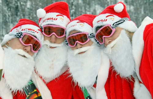 We shot DVCAM at the Clauwau (Santa Claus World Championships) in the snowy Swiss Alps. Our cleints were ZDF, SNTV and TWI.