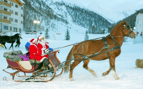 Rudolf couldn't make it, so they had to use a horse.