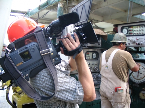 Cameraman Jacques on the Oil Rigs