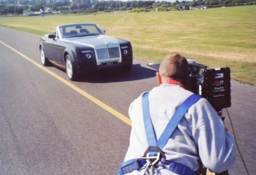Filming for Rolls Royce