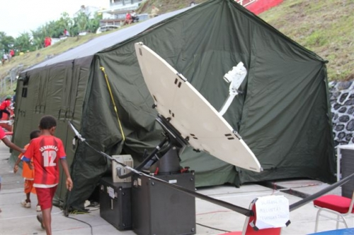 1.9 m Advent FAW looking at Asiasat 5