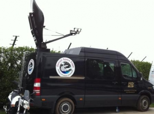 Danish Space Expo with SNG production and transmission facilities at Wimbledon 2011