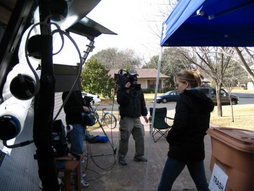 Kino Flos in action: Austin, Texas