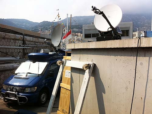 SNG on location in Monaco