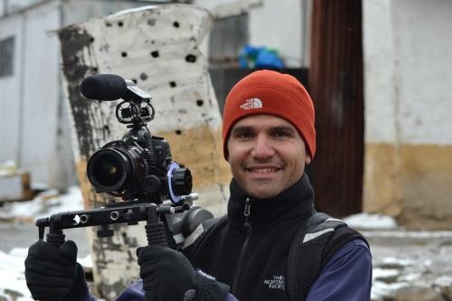 Filming in Leh, India.
