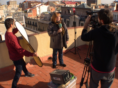 CNR TV Live Position set. Barcelona
