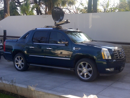 ETN in Pakistan builds a DSNG vehicle on an Escalade