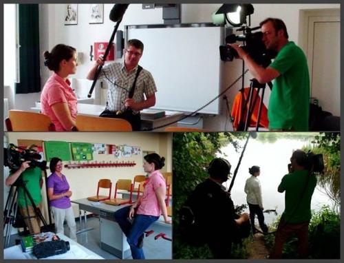 shooting a news report near Berlin