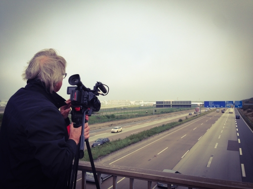 For a story about speed limits and the German Autobahn we were asked by the Australian Television Channel 9 to do an interview and b-roll in Frankfurt and Wiesbaden. We shot on a Sony PMW 200, did a rough cut and ftp'd the footage for a speedy download!