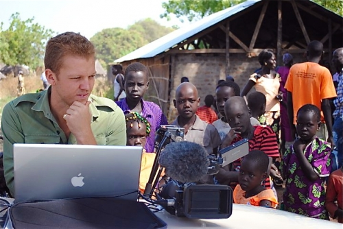 Editing in the field in South Sudan for CNN