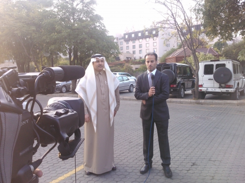 1x1 Live for Saudi TV from Serena Hotel, Islamabad