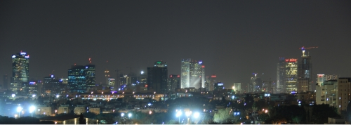 Rooftop Position from our Studio in Tel Aviv (Night)