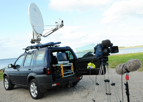 KA Band IP DSNG system fitted to a 4x4 for winter use in the Highlands of Scotland.