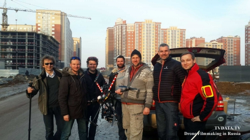 TVDATA Aerial DRONE filming for Auto Corporate Film and Commercial in Moscow. We were flying remote controlled UAV drone just somewhat 30 km outside in Moscow. The client is producing a corporate film for a heavy machinery and showcasing business operations in Moscow and all over Russia