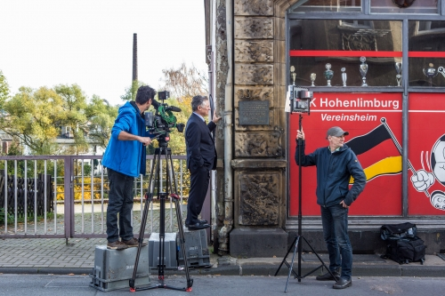One of our Frankfurt Sony FS7 camera crews on location in Northern Germany!