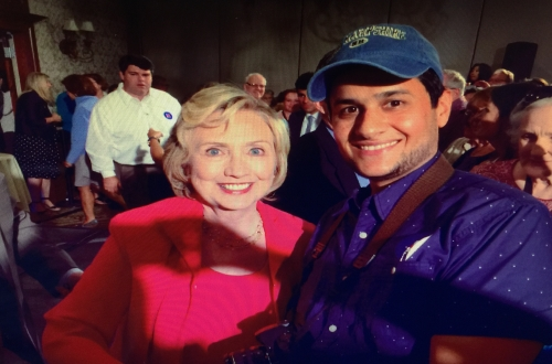 With HillaryDuring the election campaign for the presidency of the United States 2016