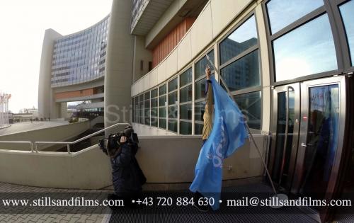 Stills & Films cameraman filming b-roll at the UN in Vienna
