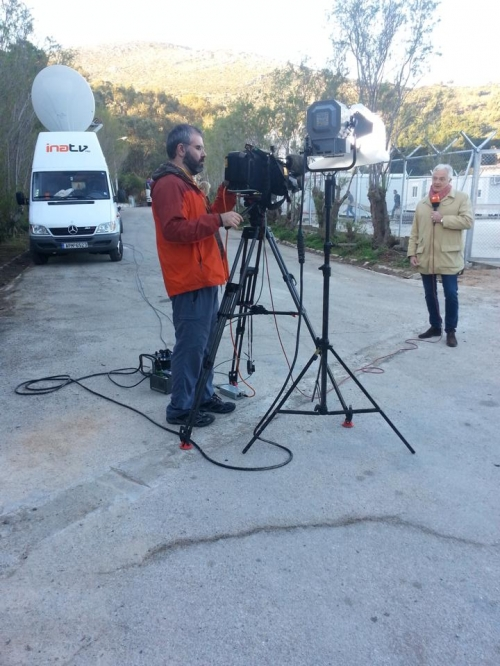 Live Stand up Position for ZDF in Leros