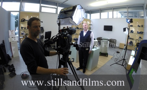 Our Frankfurt camera crew on a corporate shoot at Festool in Stuttgart.
