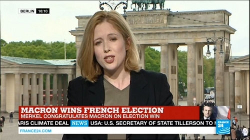 IHA covered the French elections from various locations inside and outside of France, here in Berlin from our live Brandenburg Gate background studio