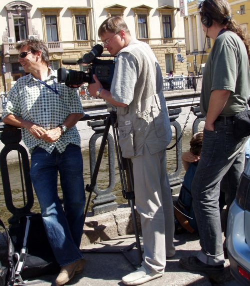 TO CONFIRM OUR EXPERIENCE, HERE IS A PICTURE FROM OUR COMPANY ARCHIVE WHEN TVDATA.TV CAMERA CREW WAS ASSISTING CHANNEL 4 FROM THE UNITED KINGDOM, AT RED BULL AIR RACE HELD IN ST. PETERBURG, RUSSIA, IN JUNE, 2006.