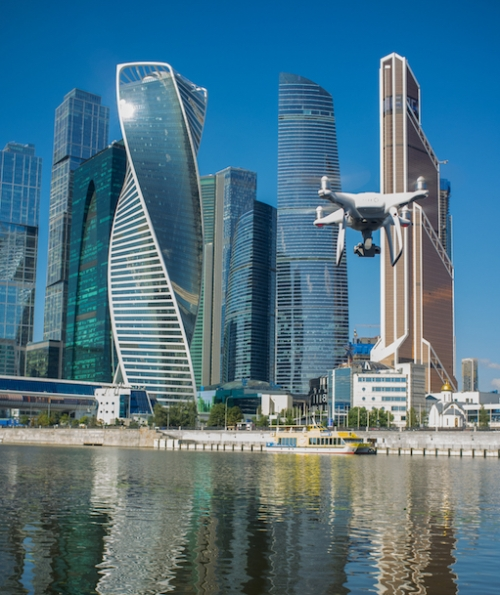 Aerial Filming in Moscow with License