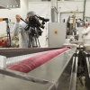 Camera-crew in Barcelona filming at Chupa Chups factory for science program GALILEO / German broadcaster Pro 7