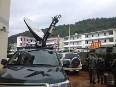 C-COM uplink transmission auto-deploy antenna in China.