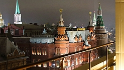 Celebro Live offer a live camera shot overlooking the Kremlin in Moscow.