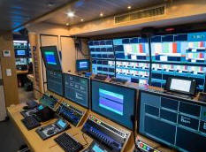 OB van for production of soccer coverage in Czech Republic supplied by Broadcast Solutions.
