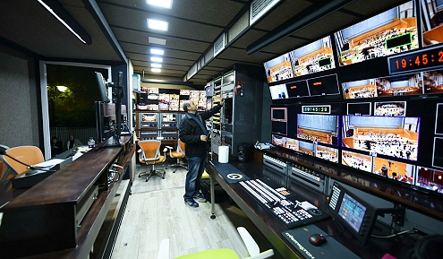 OB van hire in Greece from ENGs broadcast services.