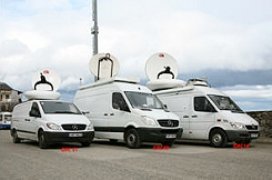 ENGs provides SNG satellite trucks in Athens, Thessaloniki and Greece nationwide.