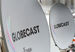 Globecast satellite antennas.