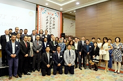 Ceremony at IHA headquarters on opening of Fuji TV bureau in Istanbul.