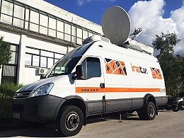 INA offers SNG satellite trucks in Greece for live transmission and production.