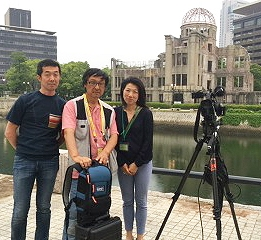 ITM provided live services to foreign broadcasters at Hiroshima.