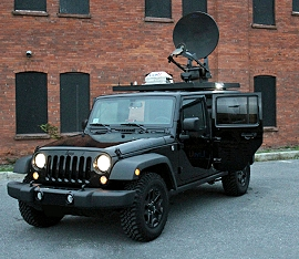 LiveU offers a hybrid SNG satellite truck.