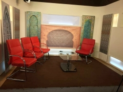 Live TV broadcast studio in Nouakchott, Rabat and Dakar.