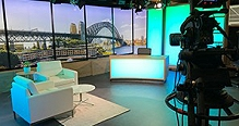 Telstra provides live broadcast studios in Sydney.